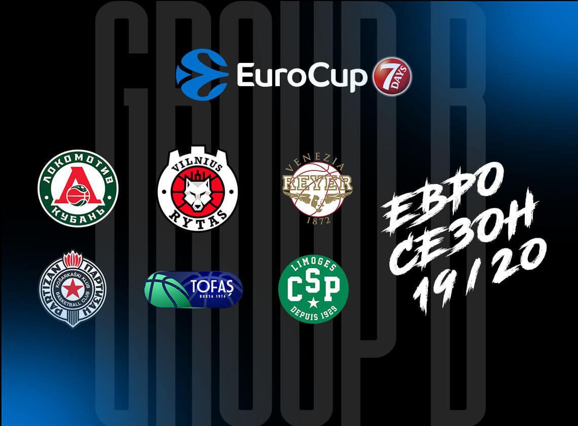 В Еврокубке-2019/20 «Локо» сыграет в группе В